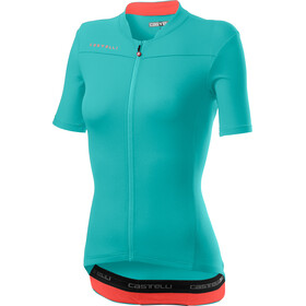 Castelli Anima 3 SS Jersey Women light turquoise/brilliant pink